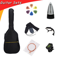 Guitar Accessories Guitar Sets with Guitar Bag Strings Capo Tuner Picks Metronome for Stringed Instruments GP115