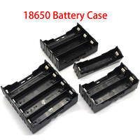 Estuche protector de plástico para batería, caja de almacenamiento para batería recargable de 3/4 V, bricolaje, 1/2/18650 secciones, color negro