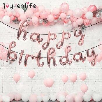 16 zoll Glücklich Geburtstag Folie Ballon Geburtstag Party Dekoration Kinder Erwachsene Air Balloons Baby Dusche Mädchen Junge Globos Party Ballon