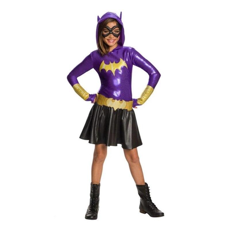 Hoodie Das Meninas de Vestido-Batgirl SuperHero Traje para As Crianças Vestido TuTu Halloween Costume (3-9Years) Vestido de Festa