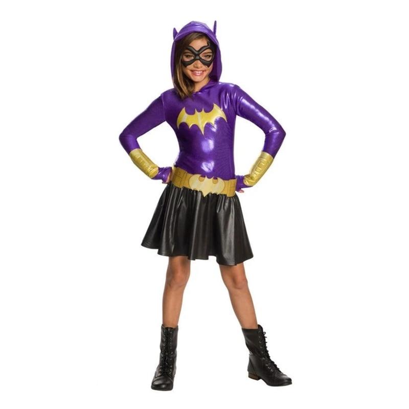 SuperHero Girls Hoodie Dress - Batgirl Costume For Kids TuTu Dress  Halloween Costume (3-9Years)  Party Dress
