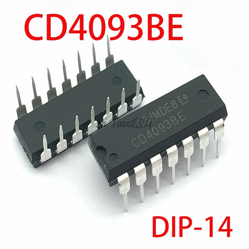 10PCS <font><b>CD4093BE</b></font> HCF4093BE DIP14 CD4093 DIP 4093 DIP-14 4093BE new and original IC image
