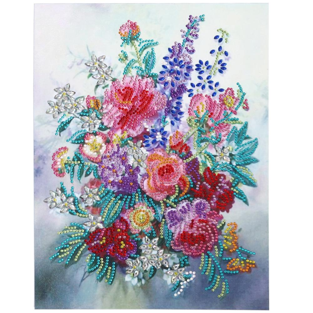 Flower DIY 5D Special Shaped Diamond Painting Embroidery Cross Stitch Kit Crafts