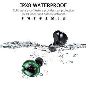 Image 1 - Loa Di Động Không Dây Bluetooth HD Stereo Bluetooth Không Dây IPX8 Tai Nghe Tai Nghe Nhét Tai Bluetooth 3500MAh Sạc Hộp