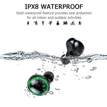 Portatile Senza Fili di Bluetooth del Trasduttore Auricolare HD Stereo Senza Fili Auricolare Bluetooth IPX8 Cuffie Auricolari Bluetooth 3500mAh Carica Box