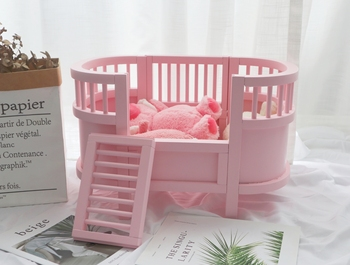 Pet Cat Bed  Litter Pet House Wooden Dog House Dog Bed White Pink Optional Cat Kennel jiahui a038 detachable cotton fabric sponge pet dog cat house kennel red white grey