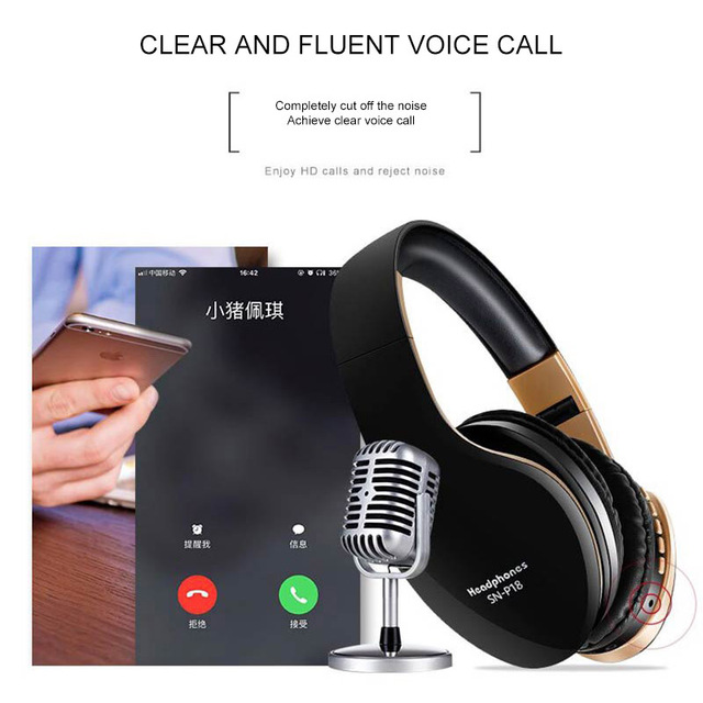 PunnkFunnk Wireless Headphones Bluetooth Earphone 5.0 Noise Reduction Gaming Headset/Mic 5