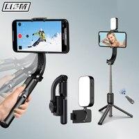 Stabilizzatore cardanico per telefono bilanciamento automatico Selfie Stick treppiede Bluetooth compatibile per stabilizzatori per fotocamere per Smartphone Gopro