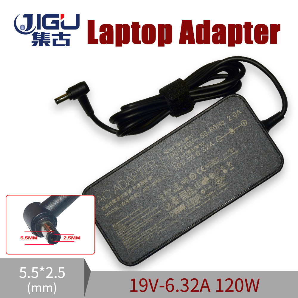 JIGU <font><b>19V</b></font> <font><b>6.32A</b></font> 5.5*2.5MM <font><b>120W</b></font> For <font><b>Asus</b></font> G50 G73 G71 K55 K53 K73 GL751 UX501 X550 Laptop AC Charger Adapter image