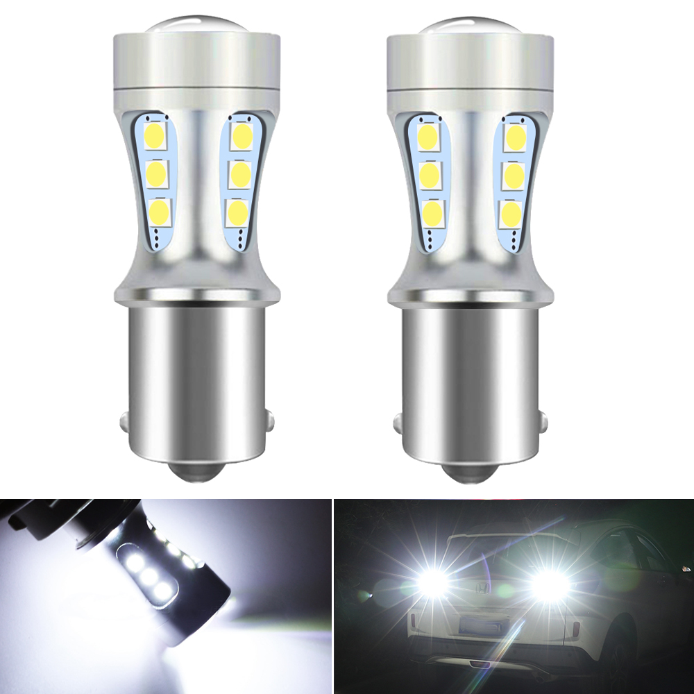 2x P21W LED Canbus Error Free Car Reverse Lamp 1156 BA15S 1157 bay15d For VW Golf 4 5 6 7 Passat B5 B6 B7 Jetta MK4 MK5 MK6 Polo