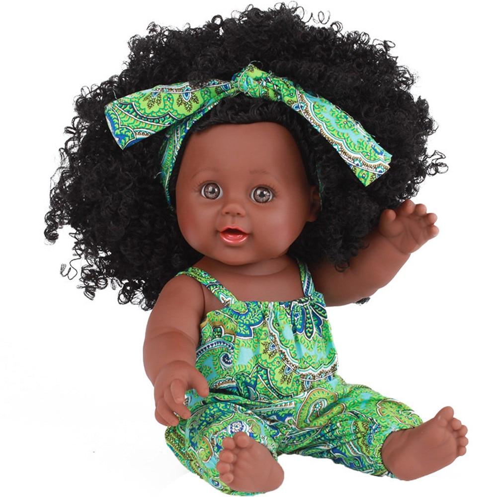 Brinquedos do bebê crianças infantil da criança da menina negra bonecas african american play dolls lifelike 12 polegada bonecas do jogo do bebê presentes para o bebê