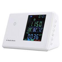 Монитор качества воздуха PM2.5 CO2 HCHO TVOC CO2 AQI детектор анализатор газа с часами CORC