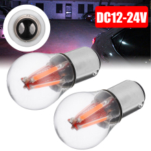 Mayitr 2pcs/set Red 12V/24V 4LED 1157 BAY15D 21/5W Car Reverse Backup Tail Stop Brake Light Bulb Styling