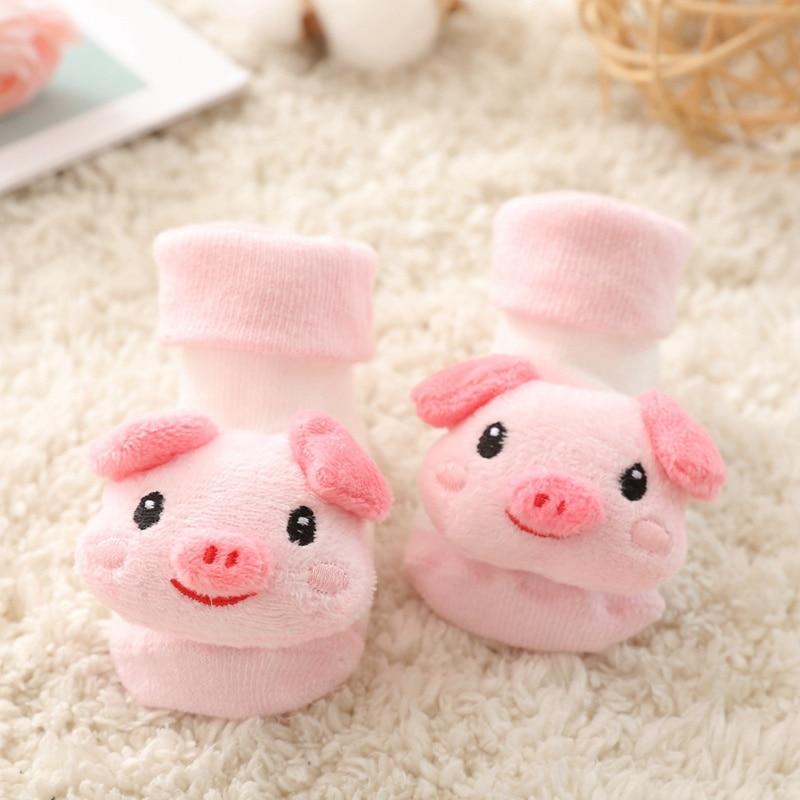 Newborn Slipper Shoes Boots Anti-slip Socks Cartoon Floor Baby Girl Boy 0-12M