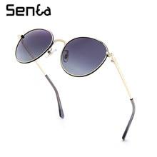metal round woman shades sunglasses Polarized UV400 2021 trend fashion luxury brand designer anti-glare decorative glasses retro