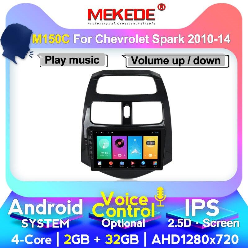 MEKEDE Android Car Radio Multimedia System For Chevrolet Spark 2010 2011 2012 2013 2014 Car GPS Navigation Octa Core IPS DSP