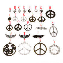 10pcs Peace Sign Charms Charms For Jewelry Making Pendants Jewelry Making(China)