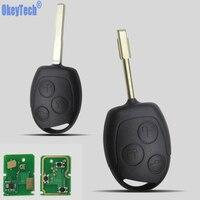 OkeyTech 3 кнопки  авто Замена  дистанционный брелок 433 МГц 4D60 чип для Ford Mondeo Focus Transit  полный ключ  автомобильный удаленный ключ