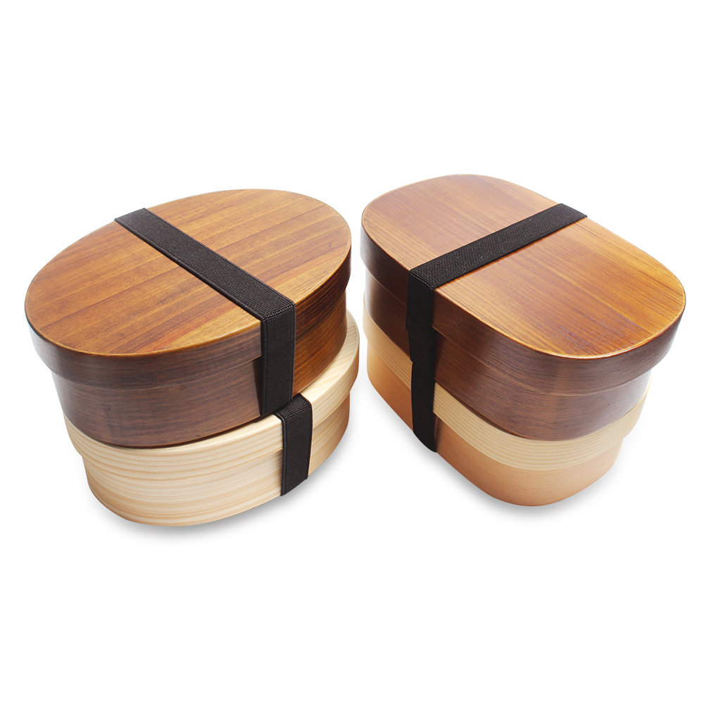 Natural Wood Lunch Box Wooden Bento Lunchbox  Japanese Food Container Lunch Box With Bondage For Student
