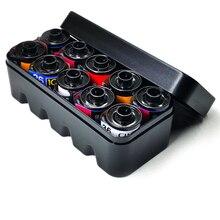 2019 nouveau 6 couleurs multi format Film plastique dur boîte de rangement conteneur pour 135 35mm noir et blanc 4x5 film Case