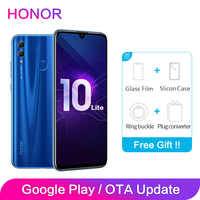 "Honor 10 Lite 4GB RAM 64GB ROM AI caméra plein écran FHD 2340x1080P 3400mAh double police arrière 24MP 6.21 ""Octa Core"