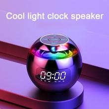 Bluetooth compatível alto falante despertador portátil mini telefone móvel subwoofer rádio com display led digital nova chegada