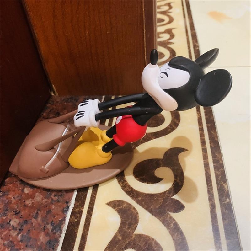 Disney Cartoon Mickey Door Stop Doll Door Stopper Disney Around Anti-theft Products Action Figure Collection Model Toys M5329