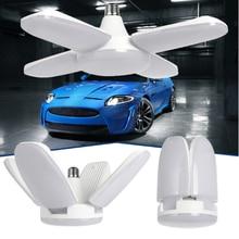 1pcs E27 Led Folding Four-leaf Deformable lights 60W Garage Ceiling LE
