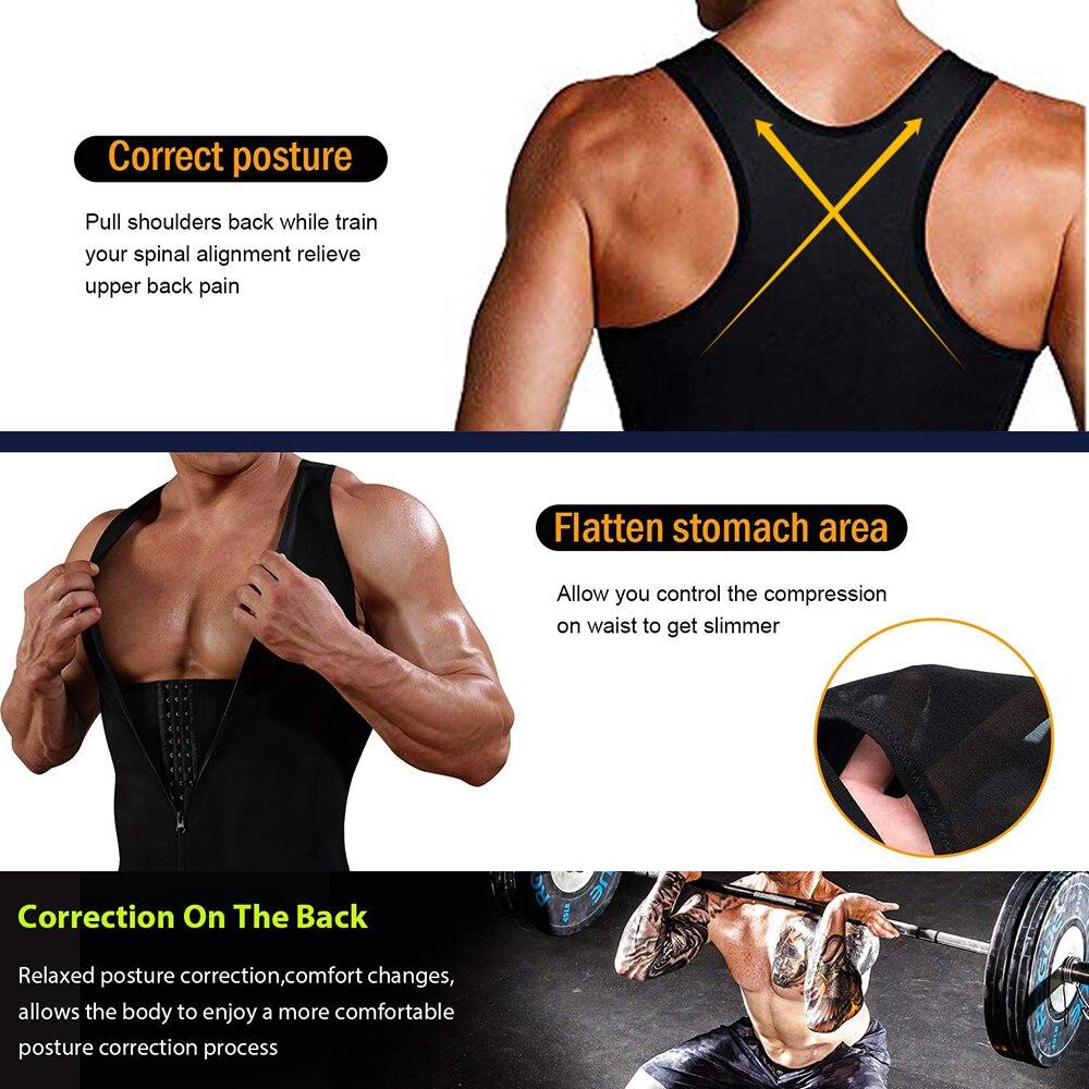 Image 3 - HEXIN Man Shaper Male Waist Trainer Cincher Corset Men Body Modeling Belt Tummy Slimming Strap Fitness Sweat Shapewear-in Shapers from Underwear & Sleepwears on AliExpress