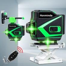 Niveau Laser vert 12 lignes 360 lignes transversales horizontales et verticales avec Auto-nivellement, super puissant pour l'intérieur et l'extérieur