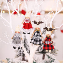 Christmas Decoration Wings Angel Pendant Christmas Tree Pendant Fabric Doll christmas decoration for home ornament орнамент 64P(China)