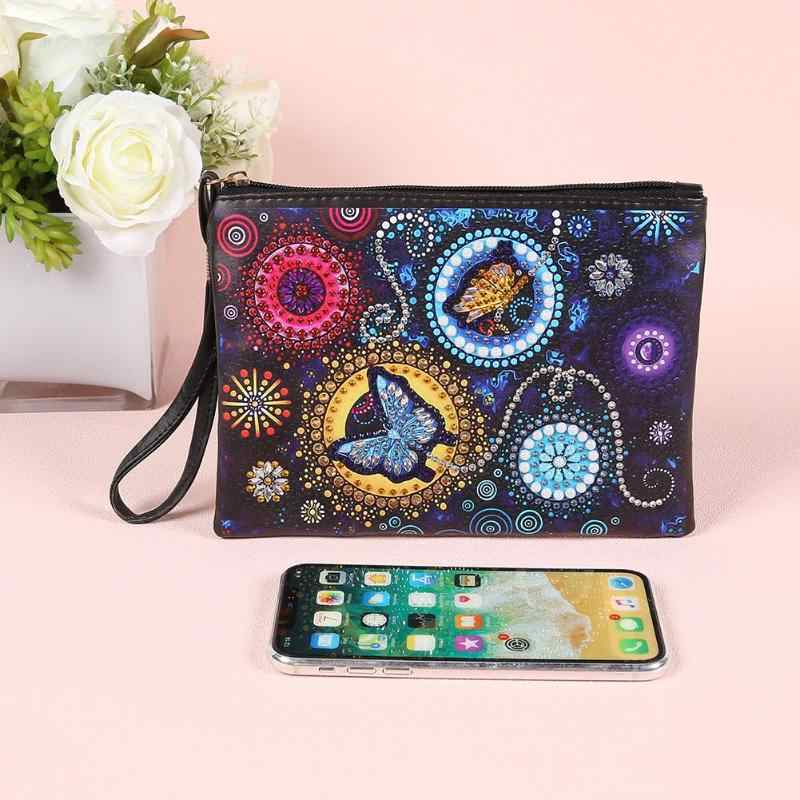 Diamond Painting Wallet Special Shaped Diamond Storage Bag Various Patterns Women Wristlet Purse Zipper Clutch DIY Craft