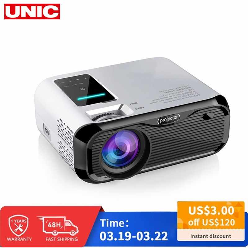 E500 WIFI Android Proyektor Full HD Proyektor 1280*800 7000 Lumen Bioskop Proyector Beamer untuk Android WIFI HDMI VGA AV USB Port