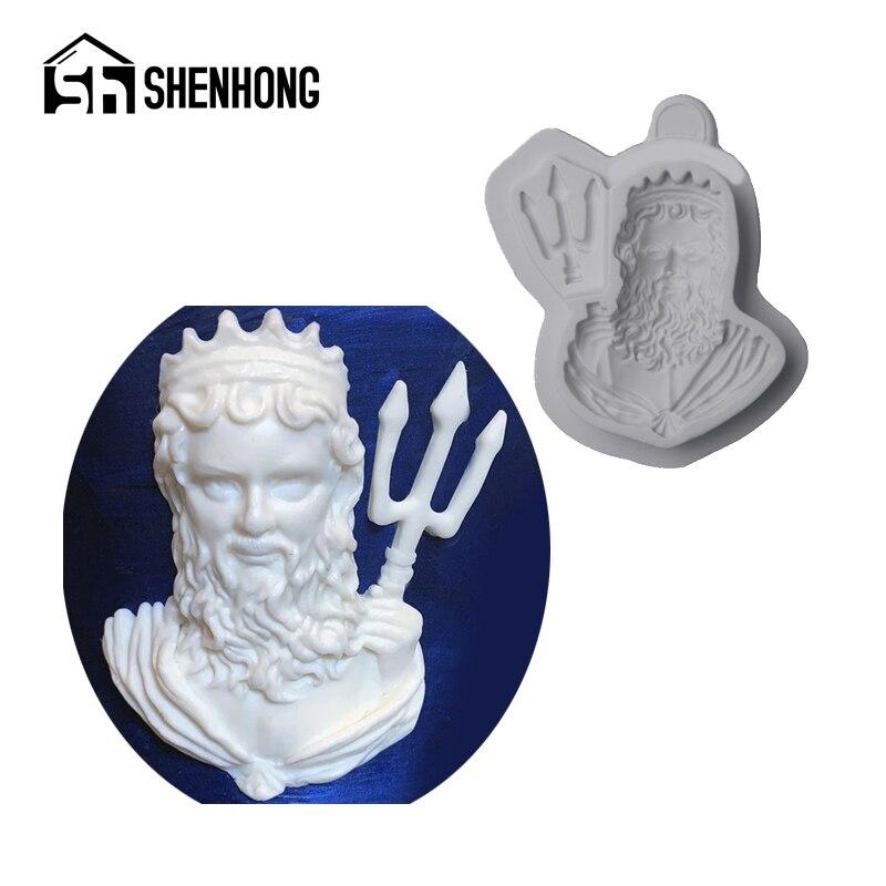 260.15руб. 36% СКИДКА|SHENHONG King Neptune формочка для украшения торта помадка силиконовые формы GumPaste Craft Fimo конфеты десерт форма для выпечки кондитерских изделий|Формы для тортов| |  - AliExpress