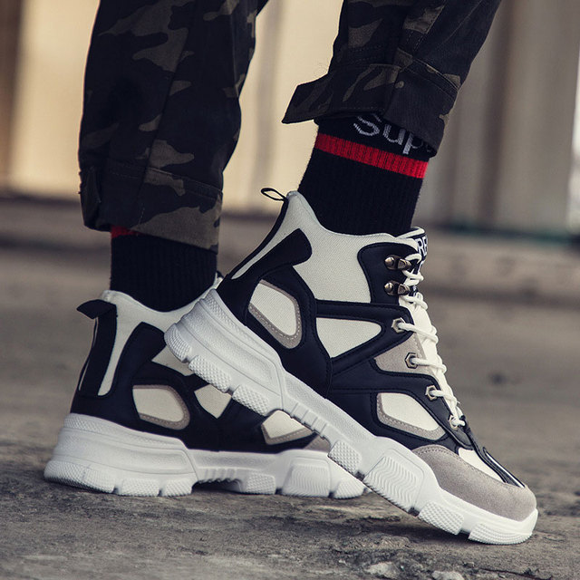 Sneakers men winter safety shoes man ankle boots 2019 lace-up platform casual shoes men sneakers Mans footwear