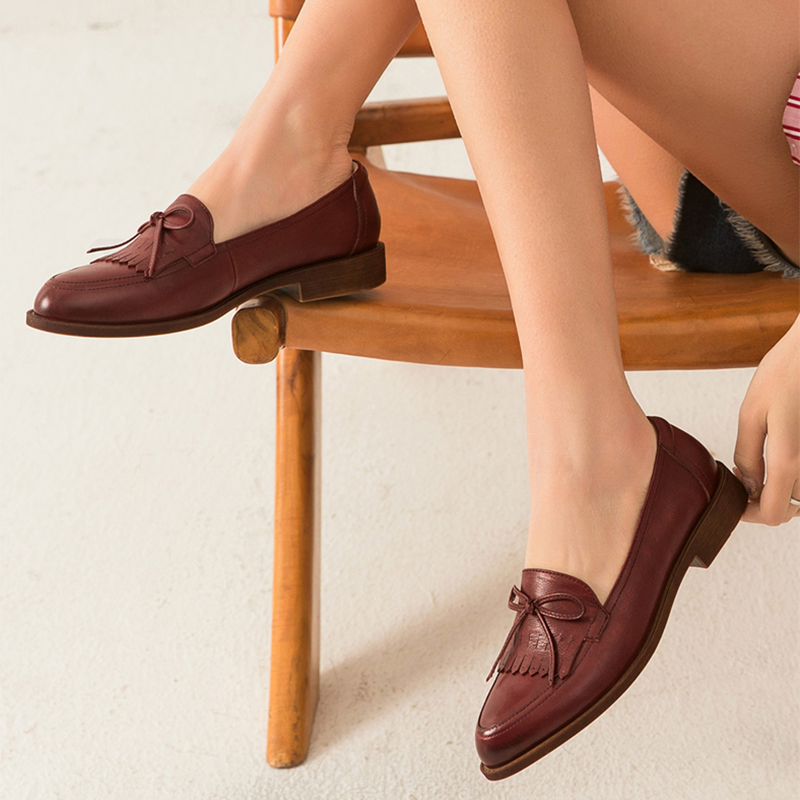 Women  Genuine Leather Flats Oxford Shoes Woman Sneakers lady brogues Vintage Casual shoes for Women handmade 2020 black brown
