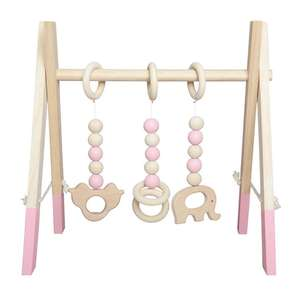 Nordic Wooden Newborn Fitness Rack Children Room Decorative Toy Photography Prop