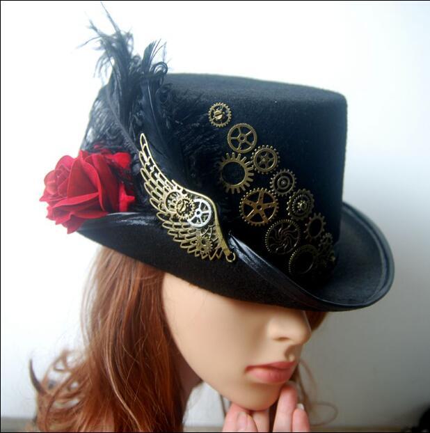 Steampunk Fedoras Gentleman Hat Medieval Cap Gear