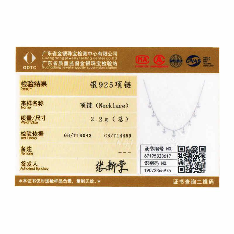 Bamoer Stars Metal Choker naszyjniki dla kobiet krótki łańcuszek naszyjniki ślub zaręczyny 925 srebro biżuteria BSN116