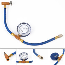 R134A To R12 R22 Refrigerant Recharge Hose Pipe+Can Tap Pressure Gauge For Car Z 3pcs refrigeration charging hose practical high pressure automobile air conditioner hose for car r12 r22 r502 refrigerant mayitr