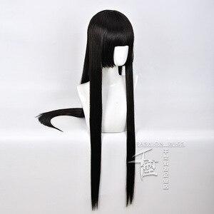 Image 3 - Anime Kakegurui Yumeko Jabami Cosplay Wig Straight Long Black Heat Resistant Synthetic Hair Cosplay Wig+Wig Cap Role Play