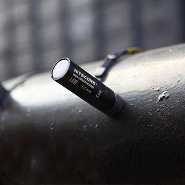 Nitecore  led 135 lumen LA10 Mini EDC Camping Nichia XP-G2 S3 LED Flashlight 1 x AA Battery For Gear Outdoor Camping(3 color)