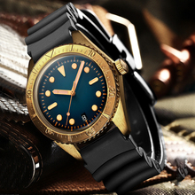 STEELDIVE montre bracelet Vintage pour hommes, couleur Bronze, mouvement NH35A, plongée automatique 200m