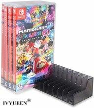 IVYUEEN caja de almacenamiento para juegos de Nintendo Switch NS, soporte para discos de CD, compatible con 12 Uds.