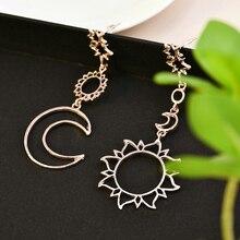 2021 New Women Boho Asymmetrical Star Sun Moon Leaf Drop Dangle Ear Stud Earrings Jewelry korean earrings vintage earrings