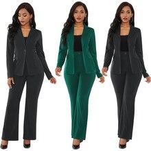 Women 2 Piece Set Work Pant Suits OL Business Interview