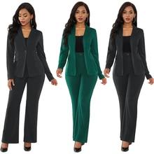 Women's 2 Piece Suit Set Long Sleeve Business Attire Work Of