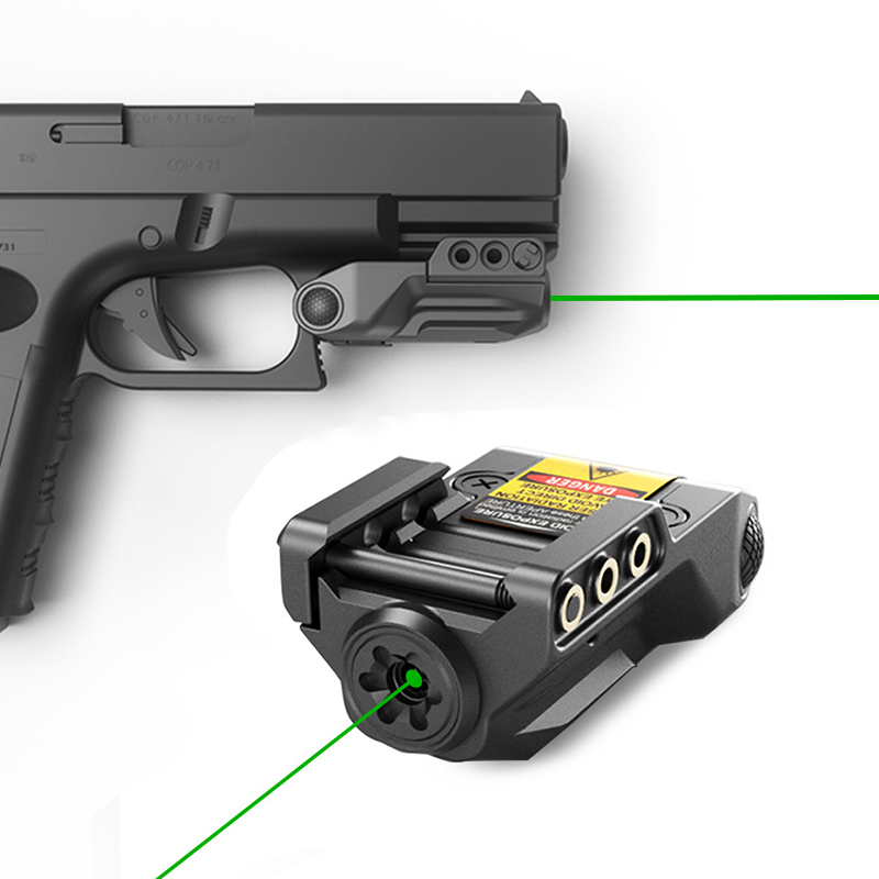 Laserspeed Police Glock 17 18c 19 21 26 28 Green Laser Sight USB Rechargeable Colimador Laser For Springfield Colt 1911-1