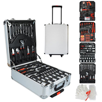498 pcs Home Trolley Toolbox Commercial Hardware Hand Tools Kit Wrench Screwdriver Hammer Toolbox Set Lever Toolkit