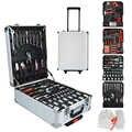 498 pièces maison chariot boîte à outils matériel Commercial outils à main Kit clé tournevis marteau boîte à outils ensemble levier boîte à outils